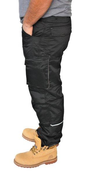 bc47144dc3 Szary Spodnie Zimowe Czarno Robocze Ocieplane Ubrania Deltaplus 8f00wgOqx