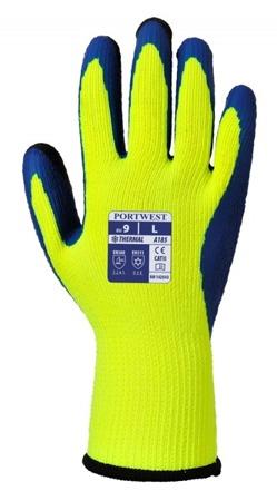 Rękawice robocze zimowe lateksowe A185 Portwest podwójne wleczenie